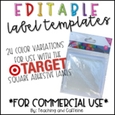 EDITABLE Target Label Template *COMMERCIAL USE*
