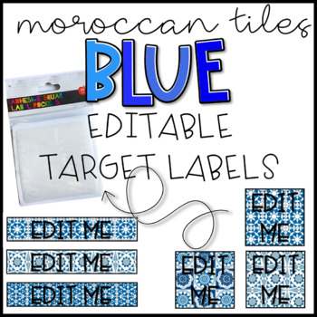 EDITABLE Target Labels: Blue Moroccan Tile