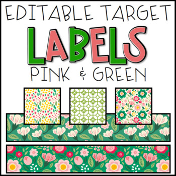 EDITABLE Target Labels: Pink & Green