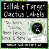 EDITABLE Target Pocket Labels: Cactus Style Classroom Decor