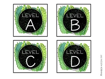 EDITABLE Target Pocket Labels: Cactus Style Classroom Decor