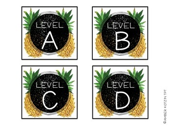 EDITABLE Target Pocket Labels: Pineapple Style