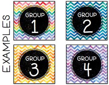 EDITABLE Target Pocket Labels: Watercolor Chevron Style