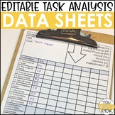 EDITABLE Task Analysis Data Sheets