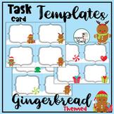 Gingerbread Man EDITABLE Task Card Templates Set #5