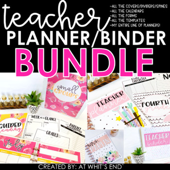 2017-2018 Teacher Binder /Planner BUNDLE