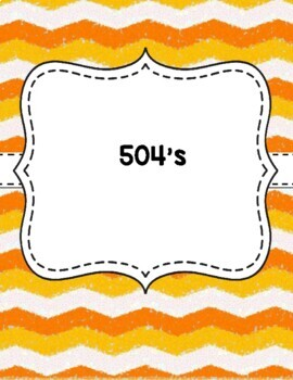 Teacher Binder Covers - Chevron - Orange and White EDITABLE