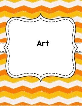 Teacher Binder Covers - Chevron - Orange and White EDITABLE