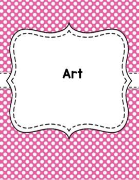 Teacher Binder Covers - Pink Polka Dots EDITABLE