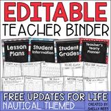 Teacher Planner 2018-2019 EDITABLE Teacher Binder with FREE Updates LIFE!