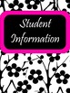 EDITABLE-Teacher Binder,Organizer Bundle Black, White and Neon Accents- 8 colors