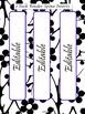 EDITABLE-Teacher Binder,Organizer Bundle Black, White and Neon Bright Blue