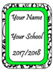 EDITABLE-Teacher Binder,Organizer Bundle Black, White and Neon Green- lime