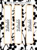 EDITABLE-Teacher Binder,Organizer Bundle Black, White and Neon Orange