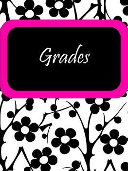 EDITABLE-Teacher Binder,Organizer Bundle Black, White and Neon Pink