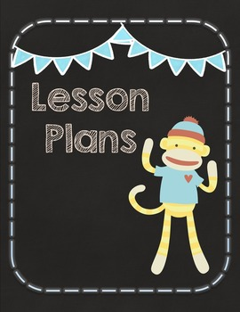 EDITABLE Teacher Binder Organizer & Planner- Sock Monkey Chalkboard