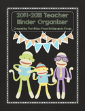 EDITABLE Teacher Binder Organizer & Planner- Sock Monkey C