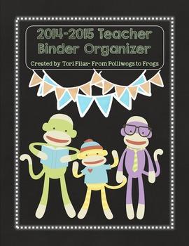 EDITABLE Teacher Binder Organizer & Planner- Sock Monkey C