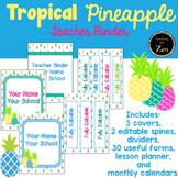 Editable & Updated to 2021/2022-Teacher Binder,Planner Tropical Pineapple theme