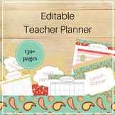EDITABLE Teacher Binder Organizer: Stitched Paisley