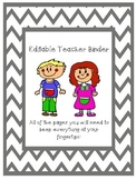 EDITABLE Teacher Binder Pages - Chevron