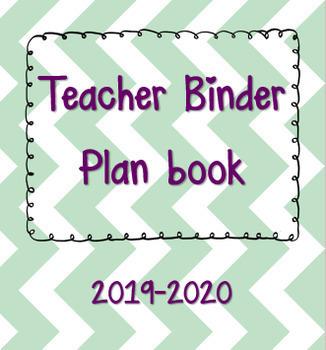 EDITABLE Teacher Binder - Teacher Planner 2019-2020 - FREE UPDATES FOR EVER