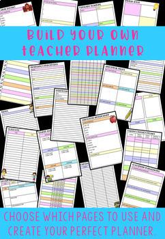 EDITABLE Teacher Planner/Binder with FREE Lifetime Updates