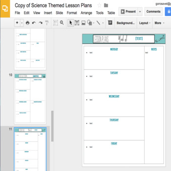 EDITABLE Teacher Binder: Science Themed {Google Drive Resource}