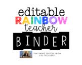 EDITABLE Teacher Binder with FREE Annual Updates (CURRENTL