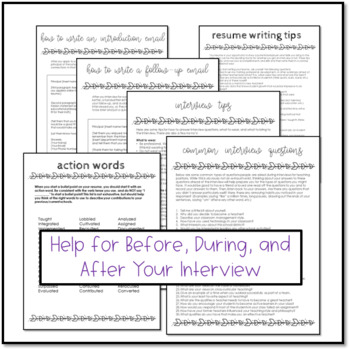 EDITABLE Teacher/Educator Resume and Portfolio Bundle with Interview Tips