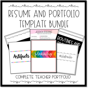 Professional Portfolio Bundle Teaching Resources Teachers Pay Teachers