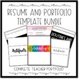 EDITABLE Teacher/Educator Resume and Portfolio Bundle with
