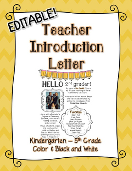 editable teacher introduction letter editable teacher introduction letter