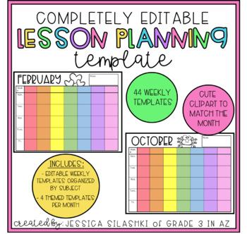 EDITABLE Teacher Lesson Planner