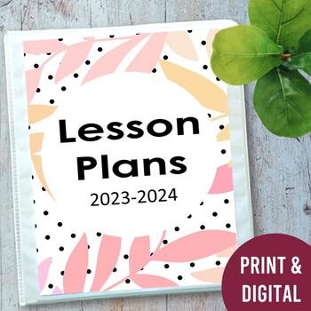 EDITABLE Teacher Lesson Planner Binder: Polka Dots 2017-2018