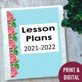EDITABLE Teacher Lesson Planner: Polka Dots 2018-2019