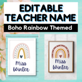 EDITABLE Teacher Name Banner - Bulletin Board - Classroom