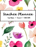 EDITABLE Teacher Planner - Watercolor Floral Design