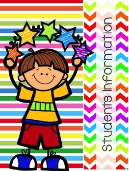 EDITABLE Teacher Planner: Colorful Kinder Kids