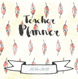 EDITABLE Teacher Planner - Day/School Planner - Whimsical Watercolor Design