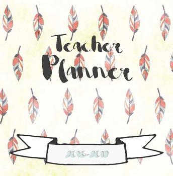 EDITABLE Teacher Planner - Day/School Planner - Whimsical