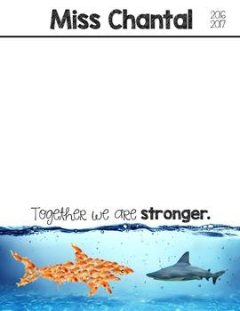 EDITABLE Teacher Binder: Goldfish