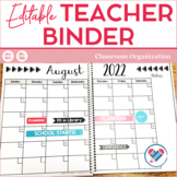 EDITABLE Teacher Planner and Binder