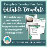 EDITABLE Teacher Portfolio