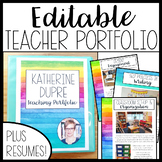 EDITABLE Teacher Portfolio (Bright and Colorful!)