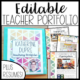 EDITABLE Teacher Portfolio (Cool and Calm!)