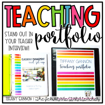 EDITABLE Teacher Portfolio:... by Tiffany Gannon | Teachers Pay ...
