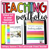 EDITABLE Teacher Portfolio   Rock Your Teacher Interview!!!