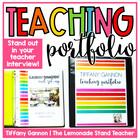 EDITABLE Teacher Portfolio: Rock Your Teacher Interview!!!