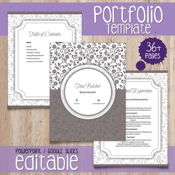 EDITABLE Teacher Portfolio - Template